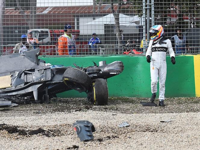 VIDEO: Nuevo ángulo del espectacular accidente de Fernando Alonso (AP)