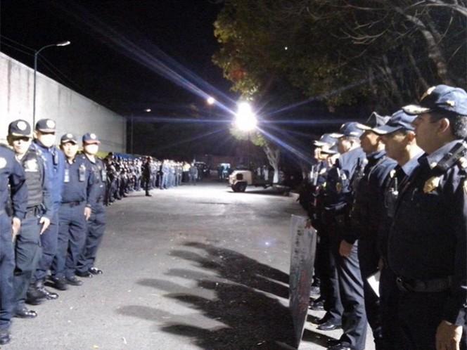 En el Operativo Mega participaron mil 118 policías que recorrieron las delegaciones Azcapotzalco y Miguel Hidalgo.