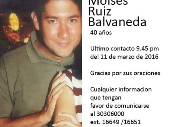 Moisés Ruiz Balvaneda desapareció misteriosamente en Guadalajara