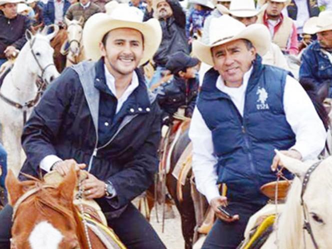 Édgar Fernando Moreno Liñán y su padre Amador Moreno López