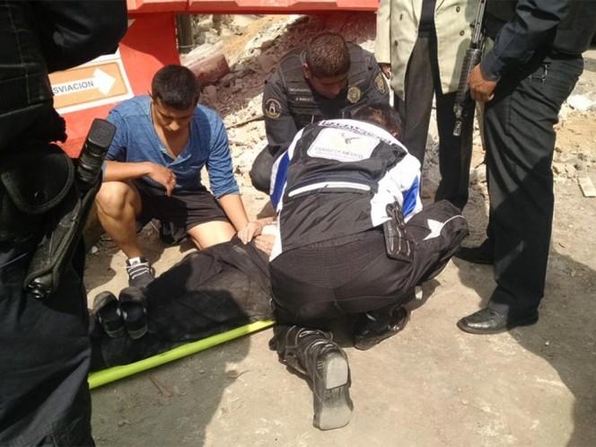 La mujer atropellada sufrió traumatismo craneoencefálico. Foto: @CESAR_RV2