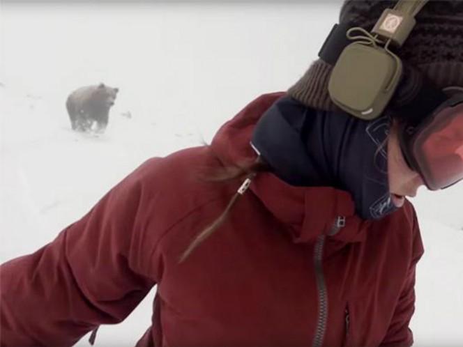 Un nuevo video ha desatado polémica, muchos afirman que el video donde se ve a un oso perseguir a una snowboarder es falso
