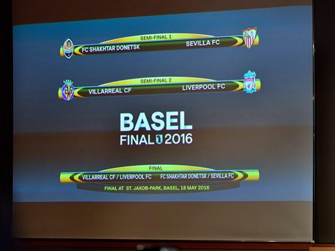 Shakhtar-Sevilla y Villarreal-Liverpool, en semis de Liga de Europa (AP)
