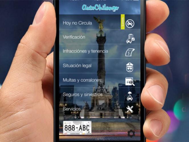 Auto Chilango es una app ambiental que cuenta con recordatorios para avisar con anticipación qué día no circulará tu vehículo. Foto: Auto Chilango