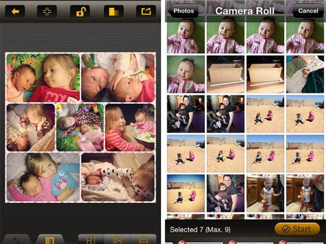 Pic Collage permite crear collages con fotos, marcos, fondos especiales, textos y compartirlos en Facebook, Twitter y hasta enviarlo por email. Foto: Especial