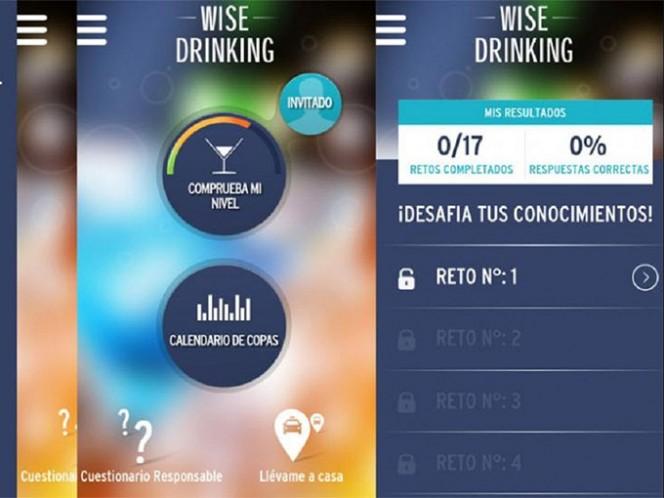 Wise Drinking tiene el objetivo de informarte si te encuentras en condiciones de tomar el volante y manejar. Foto: Especial