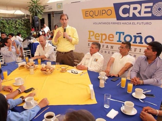 """El líder nacional del PRD, Agustín Basave, dijo: """"Mantener la cohesión y la unidad, es una… es una batalla que no termina por la naturaleza del partido"""""""