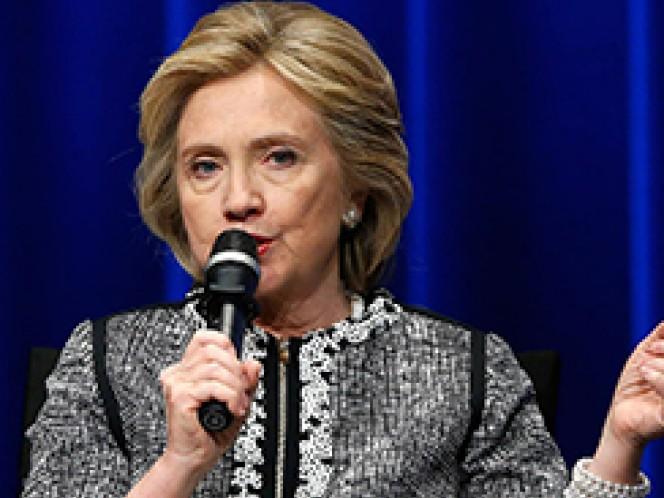 Hillary Clinton, aspirante demócrata a la presidencia de Estados Unidos