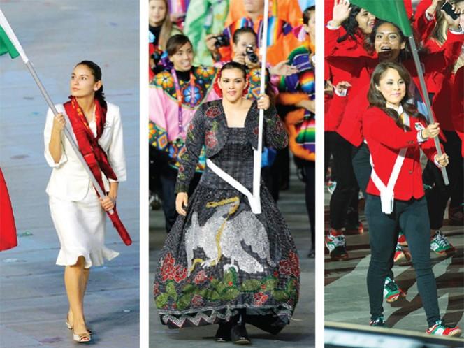 Paola Espinosa fue abanderada en Beijing 2008, ganó bronce al lado de Tatiana Ortiz. María Espinoza encabezó el contingente en Londres 2012; ganó bronce en taekwondo. Paola Longoria fue abanderada en los Centroamericanos de 2010 y Panamericanos 2011