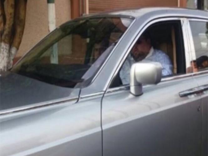 Guaruras de Emir Garduño Montalvo golpearon a un policía federal el pasado 9 de mayo. Foto: Twitter