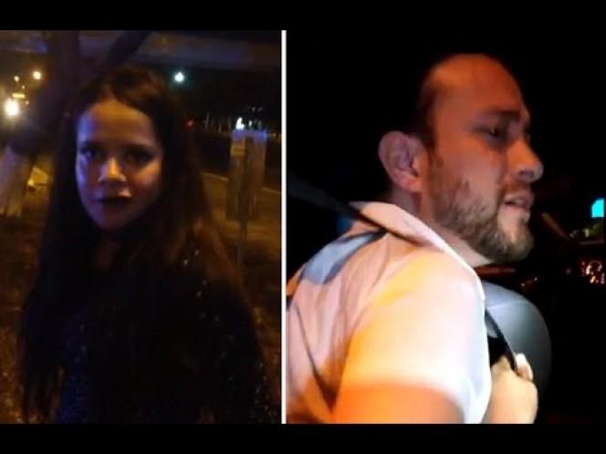 La joven y su acompañante fueron detenidos y esposados