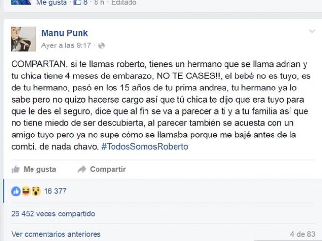 Balconean a infiel con #TodosSomosRoberto