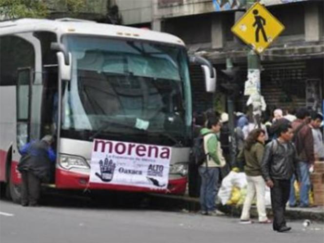 Al menos 750 transportes arribaron con simpatizantes de Morena a la Ciudad de México; destacan Oaxaca, Guerrero, Tabasco y Morelos