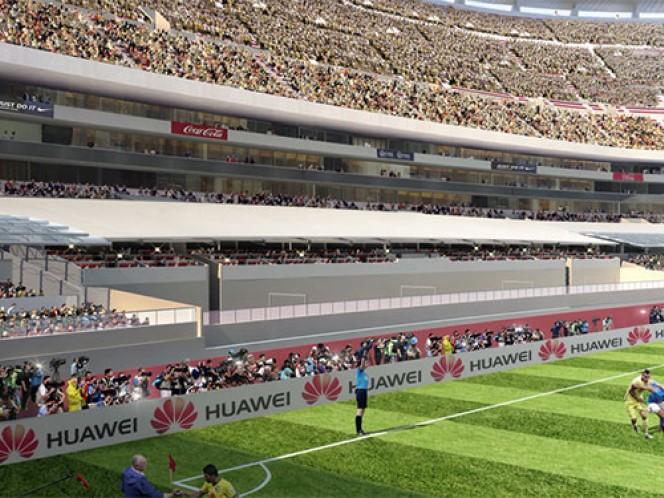 La capacidad del Estadio Azteca se reducirá a 84 mil 765 espectadores por las mejoras (Cortesía Estadio Azteca)