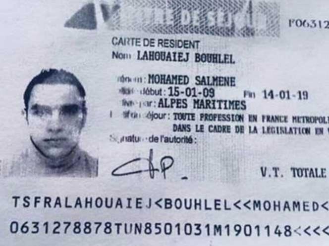Difunden la primera foto del atacante de Niza