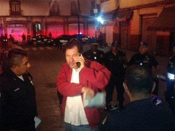 El exdiputado federal, Gerardo Fernández Noroña, fue asaltado en calles de la colonia Centro. Foto: Especial