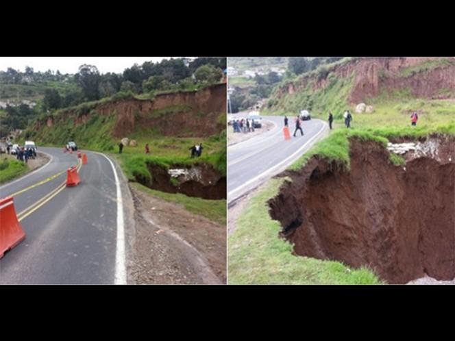 El deslava en el kilómetro 42 de la carretera Naucalpan-Toluca provocó su cierre para evitar riesgos.