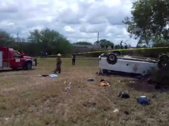 En un accidente carretero fallecieron 5 migrantes y otros 27 resultaron heridos, al parecer el exceso de velocidad fue la causa. Imagen tomada de YouTube