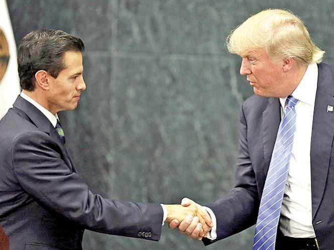 El encuentro. El presidente Enrique Peña Nieto se reunió con el candidato republicano Trump el miércoles pasado en Los Pinos. Foto: Reuters/Archivo