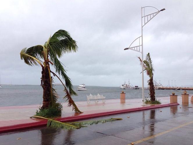 Se estableció zona de prevención por efectos de tormenta tropical desde Guaymas, hasta Puerto Libertad, Sonora; continúa su avance