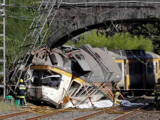 El accidente afectó a un convoy de tres vagones; a bordo viajaban más de 70 personas. Foto: Reuters