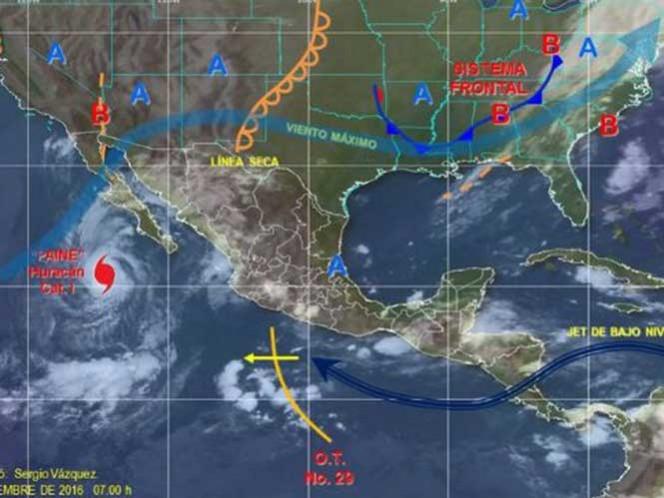 El Servicio Meteorológico Nacional que además se esperan lluvias para el resto del país.