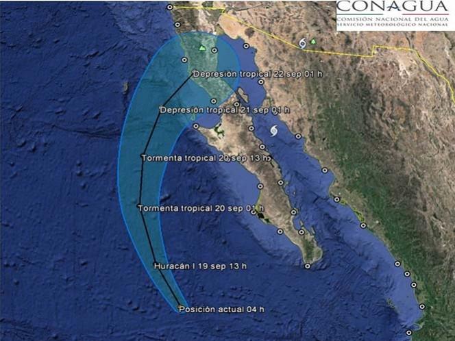 El ciclón tropical se ubicará frente a las costas de Baja California Sur; se prevén tormentas muy fuertes en Nayarit, Jalisco y Veracruz
