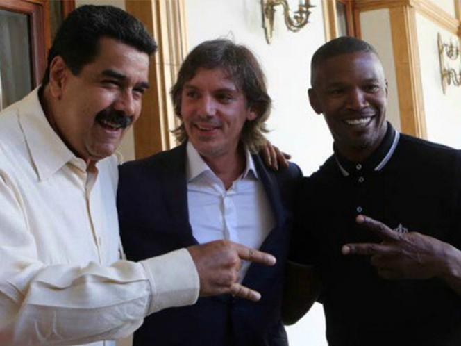 Maduro se reúne con los actores estadounidenses Jamie Foxx y Lukas Haas