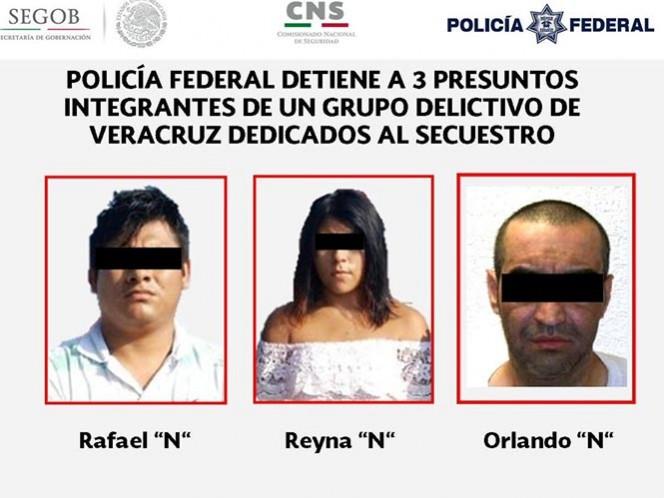 Detienen a tres presuntos secuestradores de Veracruz