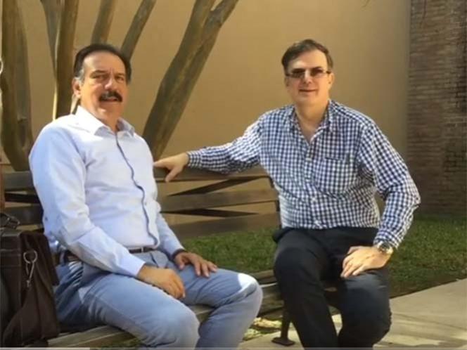 Marcelo Ebrard reaparece y llama a mexicanos a votar por Clinton
