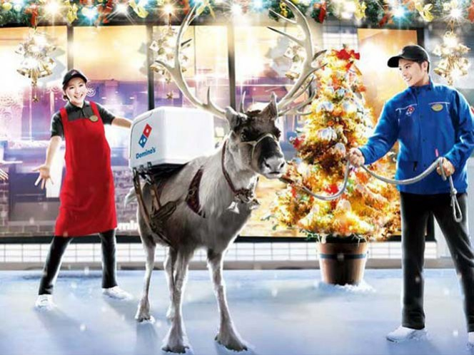 Domino's Japón entregará pizzas… con renos