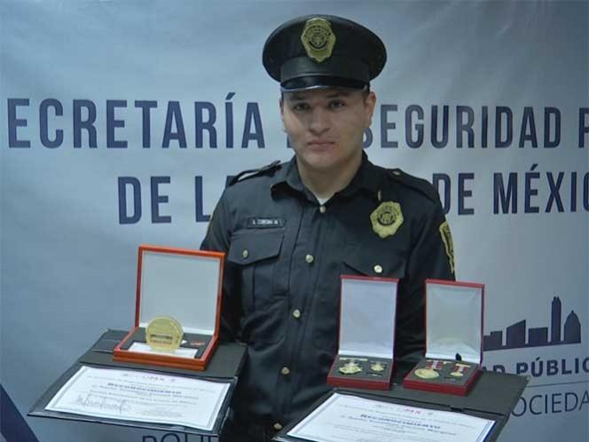 La condecoración como Policía Distinguido de la Ciudad de México 2016 significa para Yonathan un gran logro en su carrera. Foto: Especial