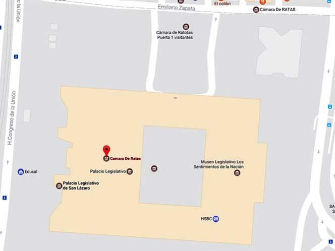 El edificio de diputados está localizado en Avenida Congreso de La Unión, número 66, colonia El Parque, perímetro de la delegación Venustiano Carranza.
