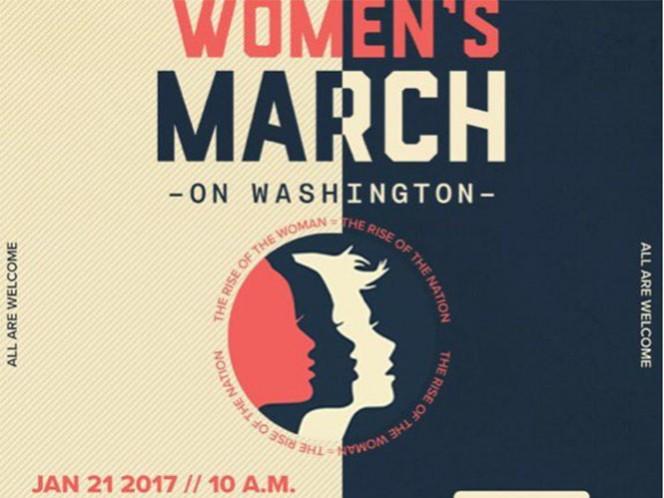 El sábado será el primer día que Trump pasará de la mañana a la noche como presidente de EU, y mujeres de todo el país han querido plantarse entre la Casa Blanca y el Congreso