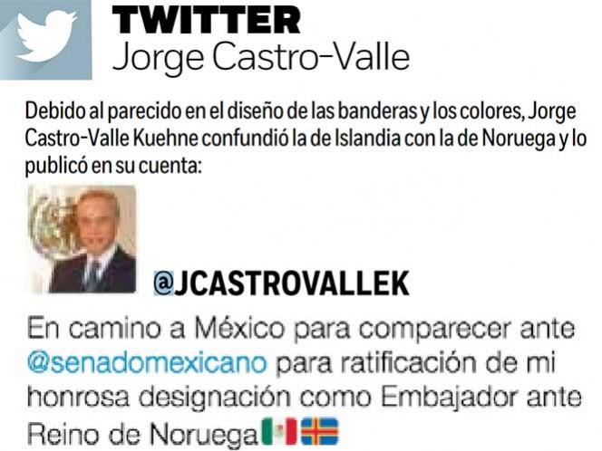 Embajador mexicano confunde bandera en Twitter