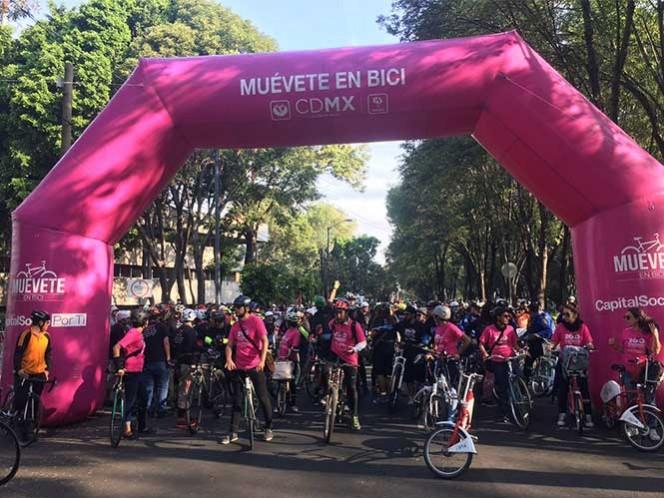 Rodada ciclista en CDMX celebra 200 años de la bicicleta