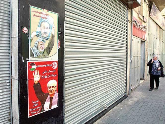 Los palestinos secundan masivamente un paro general en apoyo a los presos
