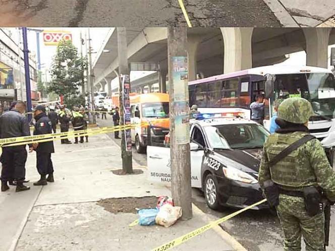 Balacera en transporte público deja tres muertos en Naucalpan