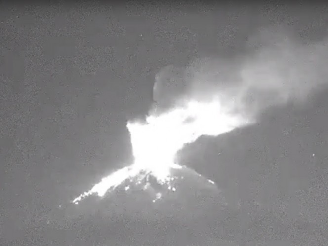 Se intensifica la actividad volcánica del Popocatéptl