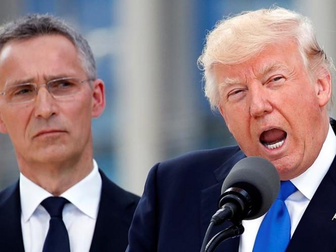 Trump pide a la OTAN frenar amenazas de Rusia