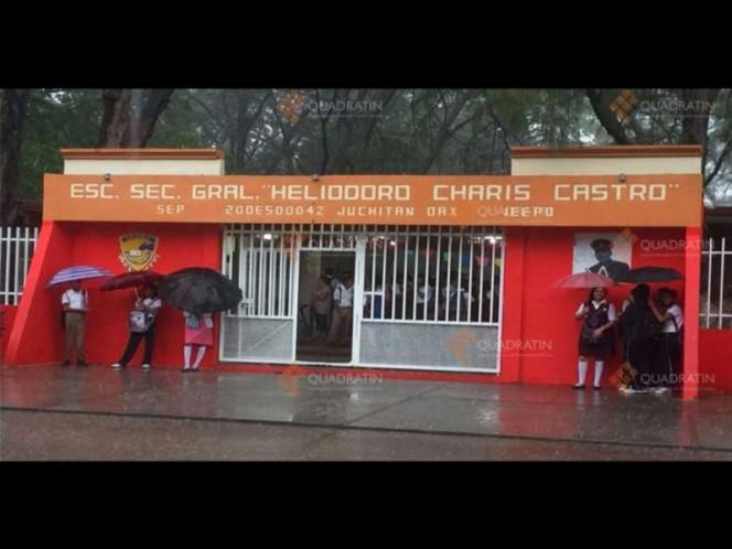 Suspenden clases por lluvias en Oaxaca