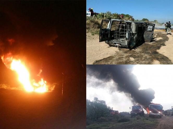 Arde toma clandestina en carretera de Hidalgo
