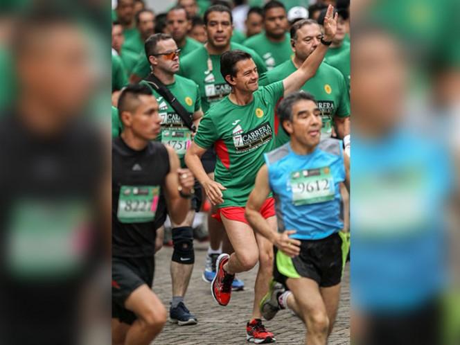 Peña Nieto participa en la Carrera Molino del Rey