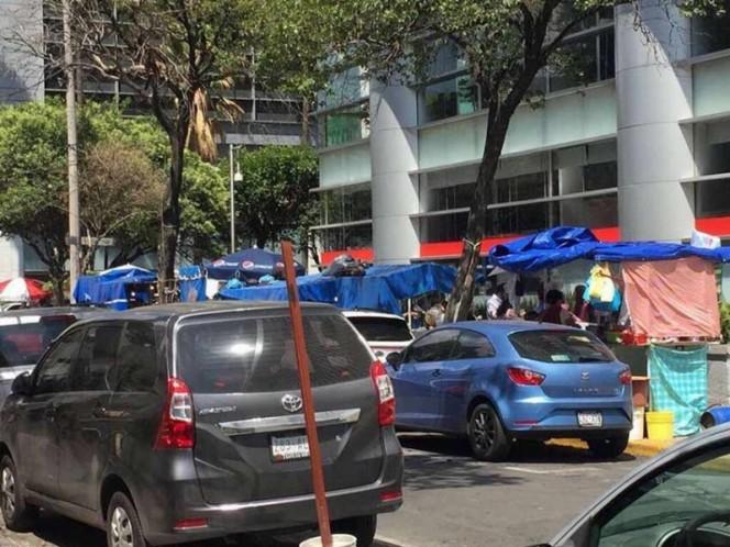 Retiran 41 puestos de vía pública en la Cuauhtémoc