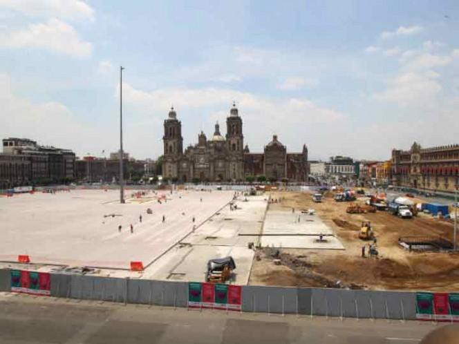 Con elementos eficientes de iluminación, drenaje y accesibilidad preservará el Zócalo