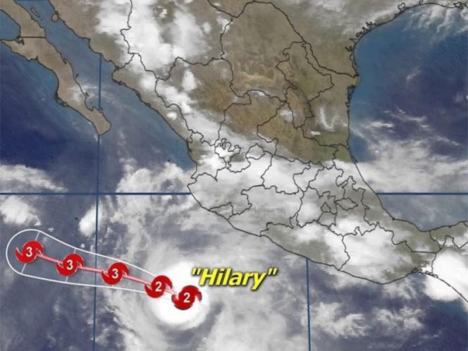 Se intensifica Hilary a huracán categoría 1