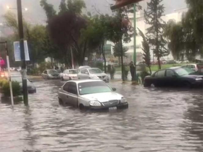 Lluvia provoca inundaciones en la GAM