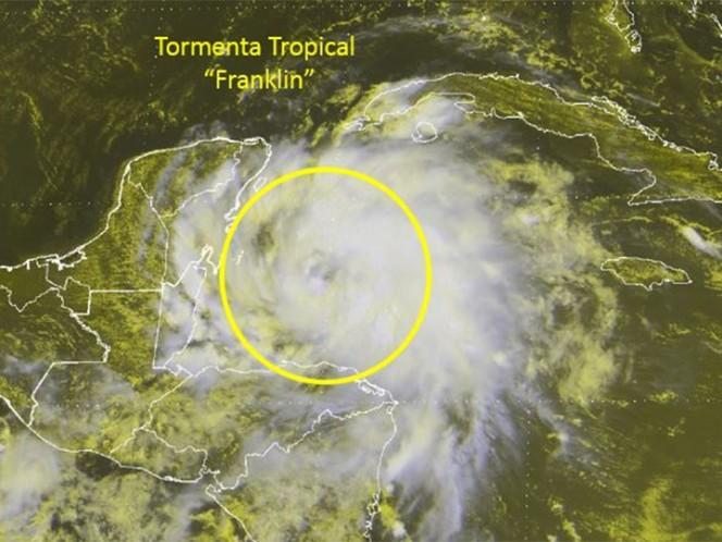 Tormenta Franklin puede convertirse en huracán en aguas del Golfo de México