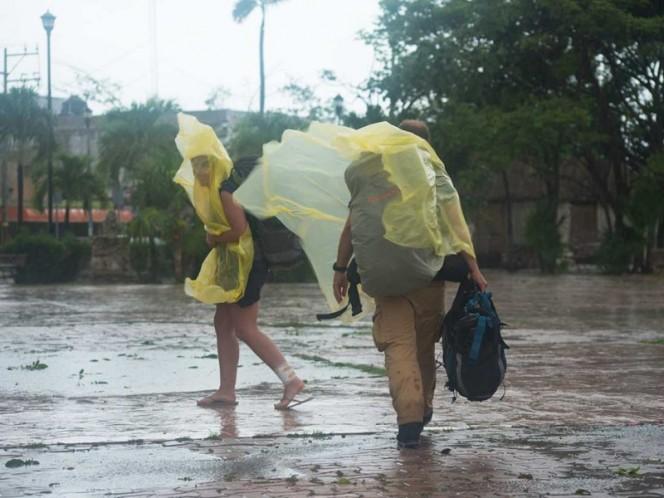 Ayer 'Franklin&#039 provocó fuertes tormentas en Quintana Roo y otros estados del país