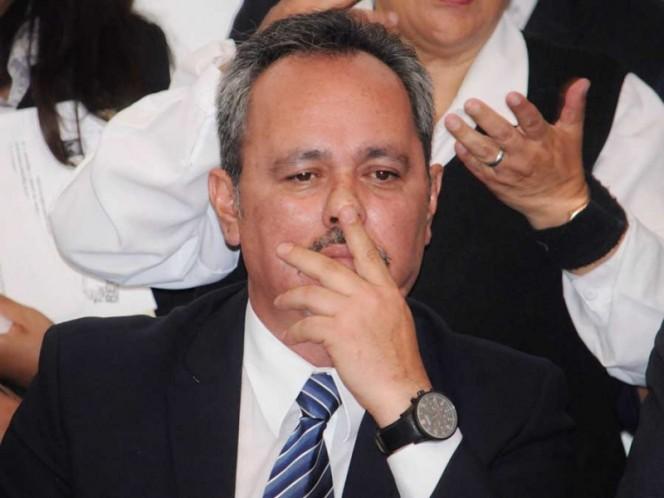 El delegado de Tláhuac, Rigoberto Salgado, durante su comparecencia ante la ALDF el pasado 2 de agosto.